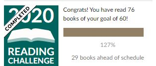 Goodreads Goal as of Oct 2020